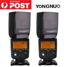 2X Yongnuo YN-568EX III Flash Speedlite HSS TTL Canon 1100D 600D 7D 6D 5D II&III
