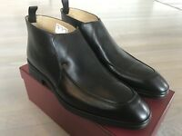650$ Bally Nebik Black Leather Ankle Boots Size US 12 Made in Switzerland