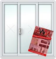 Sliding Patio Door Price Book / Irish Oak / White / Fast & Free Delivery (#22)
