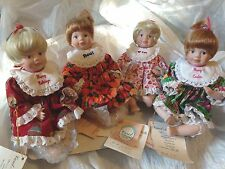 Lot of 4 Carol Anne CHRISTMAS VALENTINE EASTER HALLOWEEN Porcelain Dolls Goebel