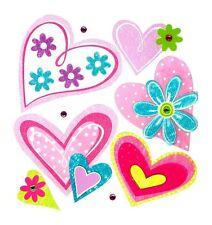 Kinderzimmer-Wandtattoos & -Wandbilder mit Herzen für Mädchen