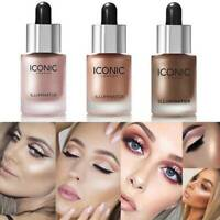 ICONIC Liquid Concealer Highlighter Illuminator Oil Glow Shimmer Makeup Face