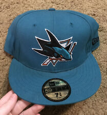 NEW ERA Hockey SAN JOSE SHARKS Fitted Hat Cap Size 7 3/4 NHL  59Fifty  Teal