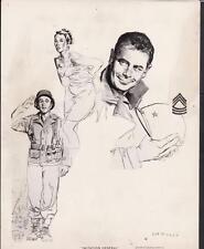 Glenn Ford Taina Elg Imitation General 1958 original movie photo 28207