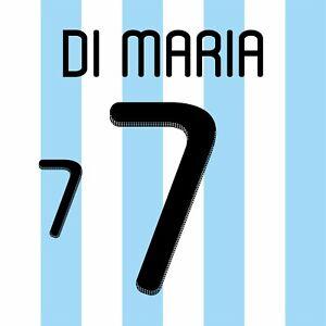 Di Maria 7. Argentina Home football shirt 2010 - 2011 FLEX NAMESET NAME SET