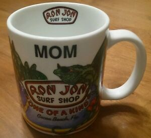 "Ron Jon Surf Shop Mug - Cocoa Beach Florida ""MOM"" 1997"