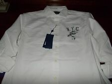 NWT MENS RALPH LAUREN LONG SLEEVE EMBROIDERED OXFORD BUTTON DOWN LARGE L