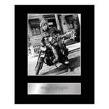 MARLON BRANDO signé Mounted Photo Display the wild one