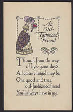 Arts & Crafts Style-Old Fashioned Friend-Print Shop-Boston-Antique Postcard