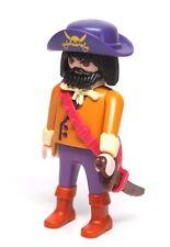 Playmobil Figure Pirate Captain Silversword w/ Ragged Sword Hat 3061
