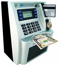 Money Safe With Slot For Kids Children ATM Bank Card Cash Deposit Savings Gift 1