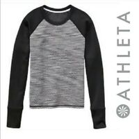 ATHLETA snowscape quilted pullover sweatshirt Top Athletic Shirt Size Small