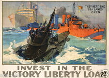WW1 World War 1 propaganda Liberty Bond - Large poster 1914-2018 Victory Liberty