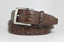 Genuine Australian Hornback Crocodile Leather Belt:Brown-Custom  (Size 32-44)