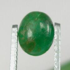 1.22 carat Oval Cabochon 8x6mm Natural Green Emerald Loose Gemstone - EmCb04