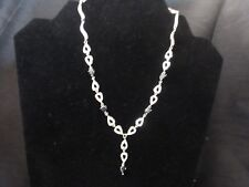 New 925 Sterling Silver Sapphire Necklace