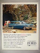 Ford Fairlane Custom Ranch Wagon PRINT AD - 1964