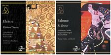 4 used RICHARD STRAUSS CDs lot (2 double CD sets)Salome Elektra~historical opera