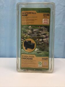 Beckett Waterfall Pump With Auto Shut-Off 2100 GPH Item FC1900 7218610