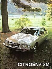Citroen SM 2.7 V6 1972-73 USA & Canadian Market Foldout Sales Brochure