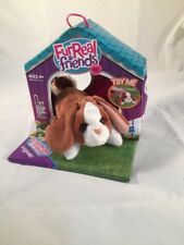 Fur Real Friends Snuggimals Brown White Bunny Rabbit Mini 2009 Easter