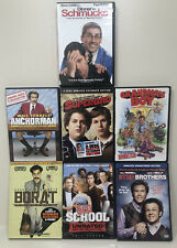 7 Comedy DVD lot Borat Grandmas Boy Superbad Old School Anchorman Step Brothers