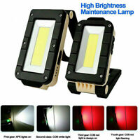 Portable Rechargeable Magnetic COB LED Work Light Lamp Folding Inspection Torch*