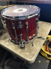 Vintage 1970s Ludwig Marching Snare Drum 15x12 Red Sparkle Super Sensitive VGC