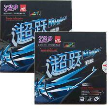 2x Friendship RITC Pips-in Table Tennis Rubber/Sponge: 729 Higher 2008, New