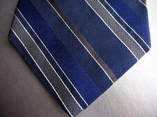 BROOKS BROTHERS Silk Tie Navy Blue Gray Stripe  MSRP $89.50 ~ NEW NWT USA