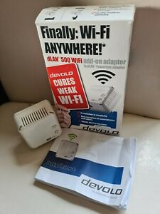 Devolo dLAN 500 Wifi Powerline internet Adapter add-on MT2504 Network Extender