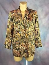 Ken Sington Square Jacket Floral Blazer Sz S Made In USA