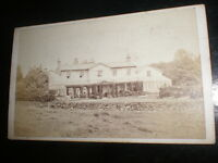 Cdv old photograph manor house by Carlton at Horncastle c1870s