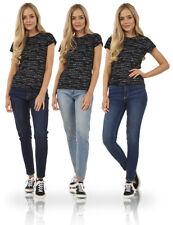 Damen Mid Aufstieg Bund Taschen Damen Super Skinny Fit Stretch Denim Jeans
