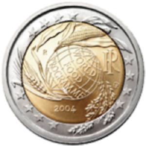 1x 2 euro commémorative Italie 2004 - World Food Programme (neuve)