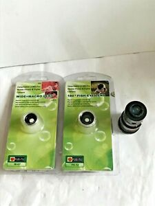 Camera Lens Set Wide Angle Macro180 degré 8xF1.16* Clip for Samsung iPad iPhone