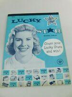 Vintage Original LUCKY STAR SCHOOL NOTEBOOK Tablet Unused