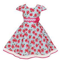 Nuevo Chicas Rosa Vestido de fiesta en azul rosa 4 5 6 7 8 años