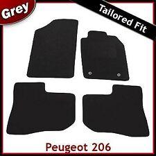 Peugeot 206 1998 - 2007 2008 2009 2010 2-Clips Tailored Carpet Car Mats GREY