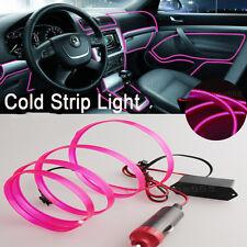 3M Pink Interior Trim Door Panel Decor Atmosphere Cold Strip EL Light  for Ford