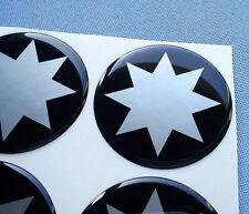 (stern 8/55) 4x Embleme für Nabenkappen Felgendeckel 55mm Silikon Aufkleber