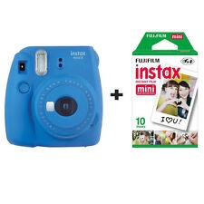 Fuji Fujifilm Instax Mini 9 fotocamera istantanea con 10 COLPI-Blu cobalto