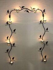Soporte de pared para velas té 10412 Candelabro metal 107cm Marrón Portavelas