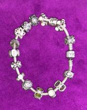 Genuine Pandora Charm Bracelet with 16 ALE Charms