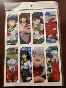 Inuyasha Anime PVC Bookmarks - Set of 8