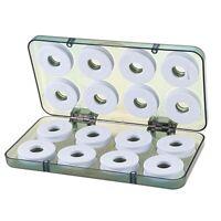 5X(16 Piezas Caja de Aparejo Carretes Bobina de Eje de Alambre Línea de Pes 6M5)