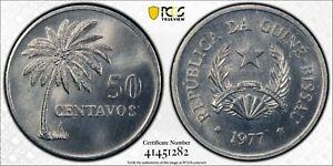1977 Guinea-Bissau 50c PCGS SP67 Kings Norton Mint Proof