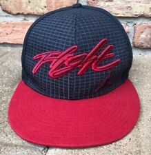 Michael Jordan FLIGHT Red & Dark Gray Fitted Hat Cap Youth L Large