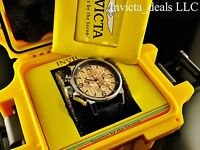 Invicta Men's 46mm I-Force Lefty SII VD52 Chrono Rose Tone Dial Watch W/1 Slot