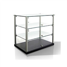 Equipex TN583 3-Tier Enclosed Dual Service Pass-Thru Display w/ (2) Glass Shelve